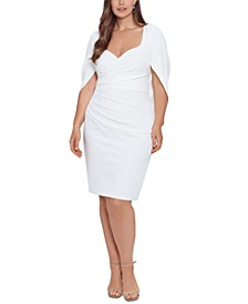Plus Size Drape-Back Sheath Dress