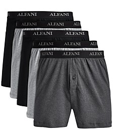 Men's 5-Pk. Knit Boxers, Created for Macy's