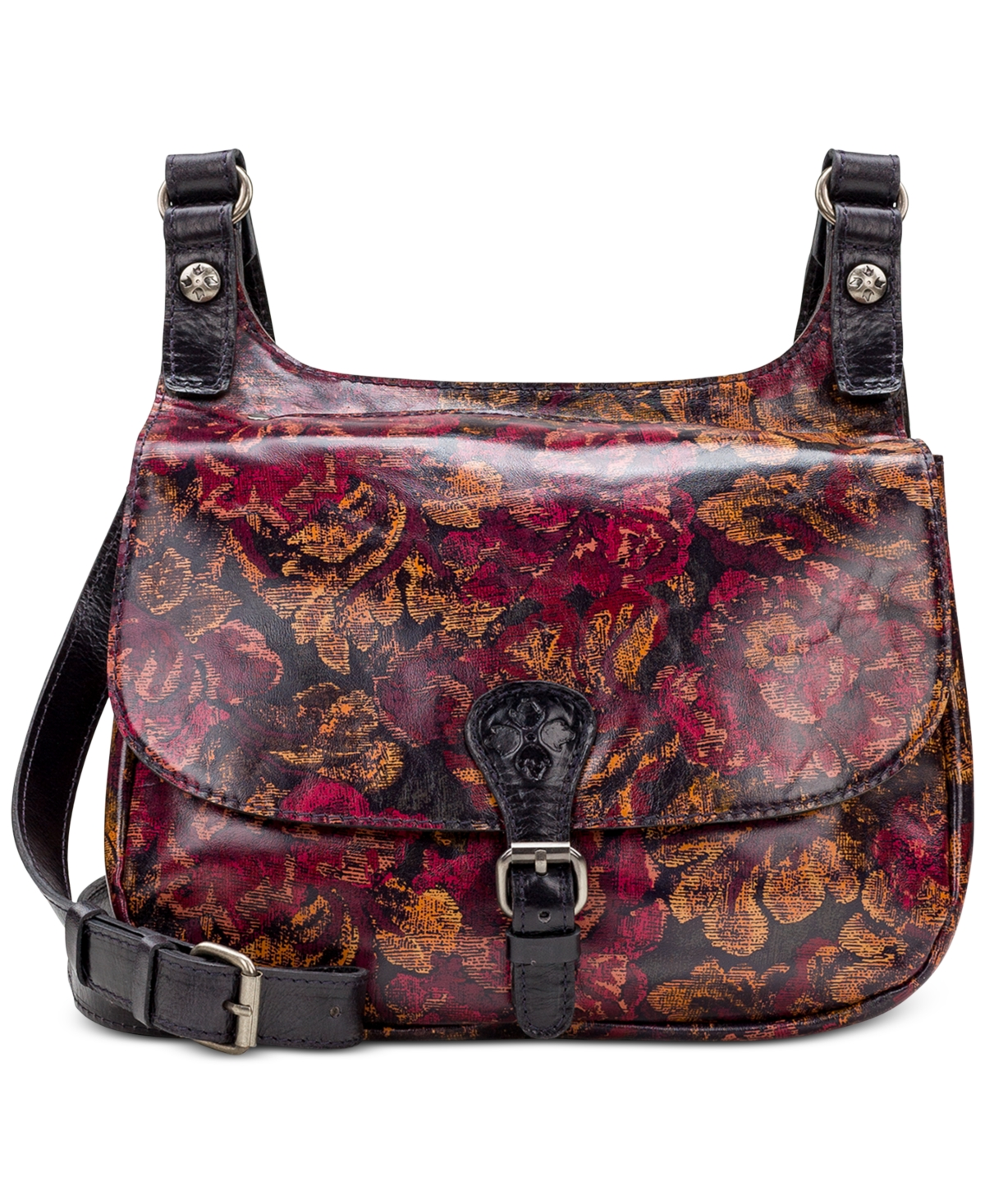 Patricia Nash London Leather Saddle Bag
