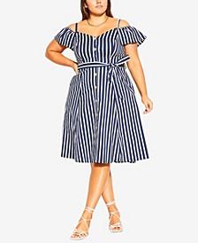 Plus Size Stripe Affair Dress