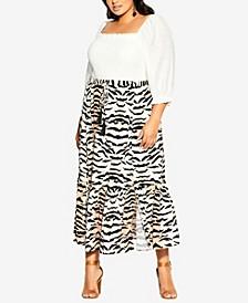 Plus Size Tigress Skirt