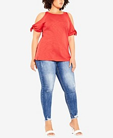 Plus Size Casual Tie Top