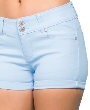 Juniors' Stretch Twill Shorts
