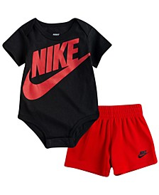 Baby Boys Futura Bodysuit Short, 2 Piece Set