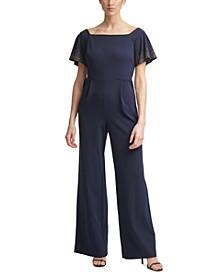 Embellished Off-The-Shoulder Jumpsuit
