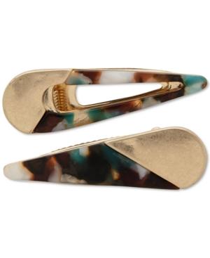 2-Pc. Gold-Tone Multicolor Hair Clip Set