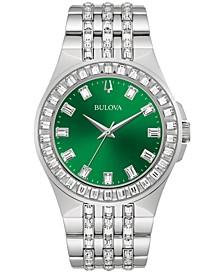 Men's Phantom Crystal Stainless Steel Bracelet Watch 42mm