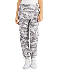 Juniors' Camo-Print Fleece Jogger Pants