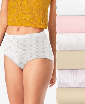 Women's 6-Pk. Assorted Cool Comfort Cotton Brief Underwear PP40BA