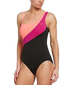 Colorblocked Asymmetrical One-Piece Swimsuit