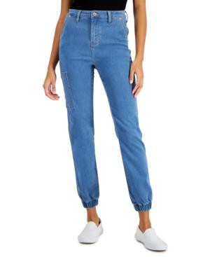 Juniors' Cargo Side Pocket Jeans