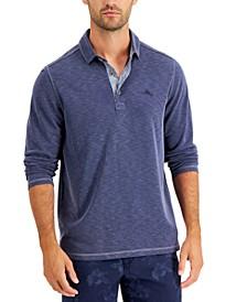 Men's Palmetto Paradise Heathered Textured Polo Shirt