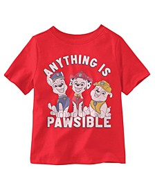 Toddler Boys Paw Patrol Short Sleeve T-shirt