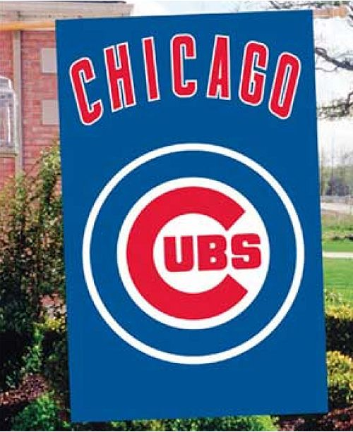 Party Animal Chicago Cubs Applique House Flag