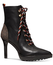 Women's Kyle Lace-Up Lug Sole Booties
