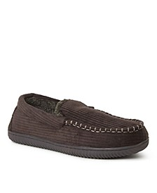 Men's Niles Corduroy Moccasin Slippers