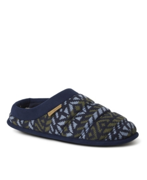 Men's Asher Quilted Fairisle Clog Slippers Men's Shoes
