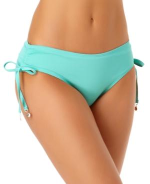 Ruched-Side Bikini Bottoms Women's Swimsuit