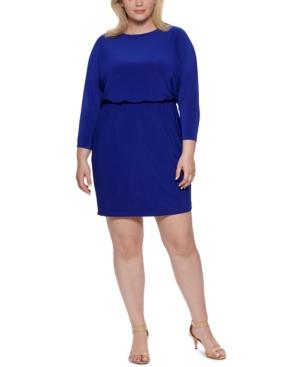 Plus Size Blouson Sheath Dress