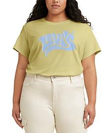 Trendy Plus Size Varsity Cotton T-Shirt