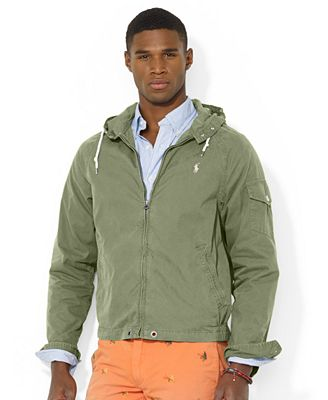 Polo Ralph Lauren Hooded Windbreaker - Coats & Jackets - Men - Macy's