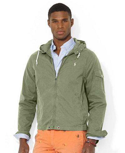Polo Ralph Lauren Hooded Windbreaker - Coats & Jackets - Men - Macy's