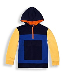 Big Boys Color Blocked Fleece Hooded Sweatshirt