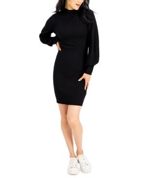 Juniors' Balloon-Sleeve Sweater Dress