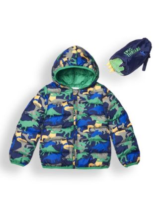 Little Boys Water Resistant Packable Pals Jacket Comes with Storage Bag