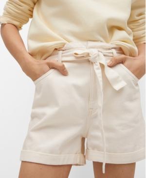 Women's Paperbag Denim Shorts