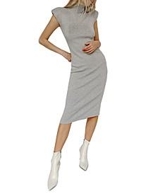 Shoulder-Pad Bodycon Dress