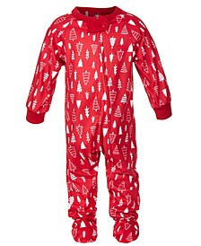 Matching Baby Merry Trees Printed Footed Family Pajama, Created for Macy's