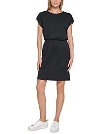 Button-Shoulder T-Shirt Dress