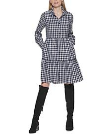 Plaid Cotton Shirt Dress