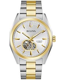 Men's Automatic Surveyor Gold-Tone Stainless Steel Bracelet Watch 42mm