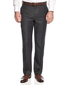 Solid Charcoal Big and Tall Classic-Fit Dress Pants