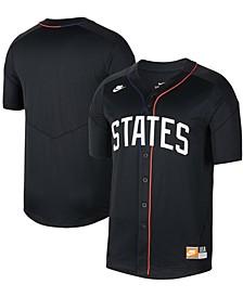 Men's Black US Soccer Baseball Button-Up Jersey
