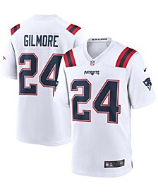 Men's Stephon Gilmore White New England Patriots Game Jersey