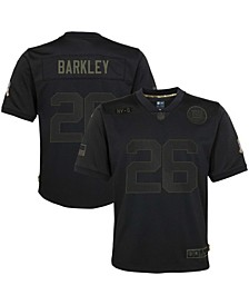 Youth Boys and Girls Saquon Barkley Black New York Giants 2020 Salute to Service Game Jersey