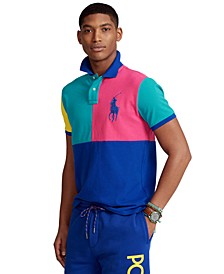 Men's Custom Slim Fit Big Pony Mesh Polo Shirt