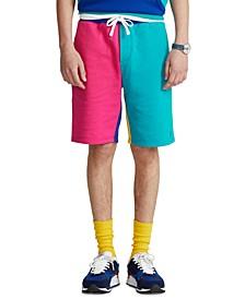Men's 8-Inch Color-Blocked Fleece Shorts