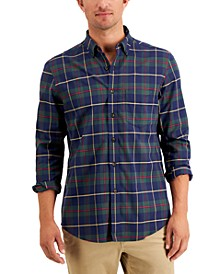 Men's Soft Touch Brushed Cotton Stretch Shirt, Created for Macy's