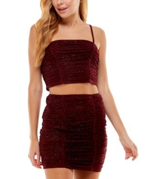 Juniors' Glitter-Knit 2-Pc. Dress