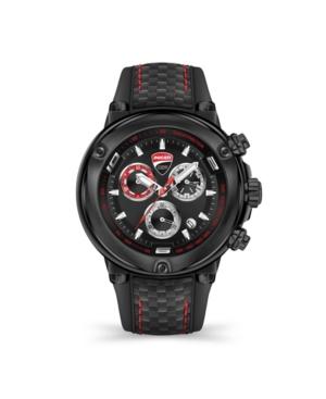 Men's Partenza Chronograph Black Silicone Strap Watch 49mm