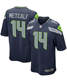 Men's DK Metcalf College Navy Seattle Seahawks Game Team Jersey