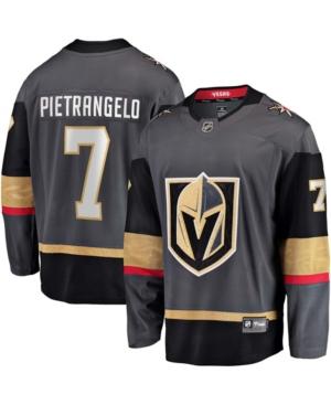 Men's Alex Pietrangelo Gray Vegas Golden Knights Home Premier Breakaway Player Jersey