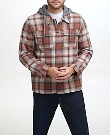 Men's 2 Pocket Hooded Shacket