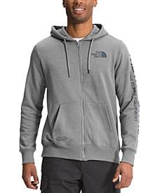Men's Brand Proud Standard-Fit Logo-Print Full-Zip Fleece Hoodie