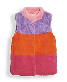 Big Girls Faux Fur Vest Jacket, Created for Macy's