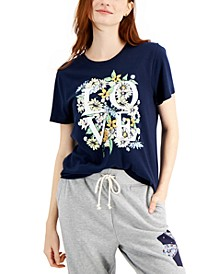 Floral Love-Print Cotton T-Shirt, Created for Macy's